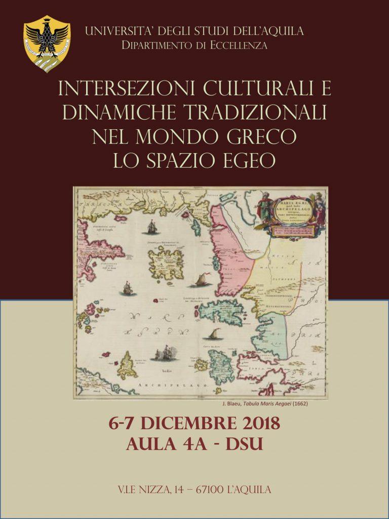 Convegno Intersezioni culturali e dinamiche tradizionali nel mondo antico. Lo spazio egeo