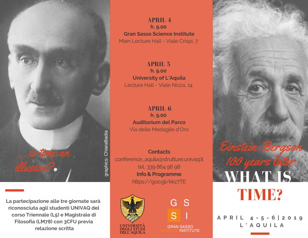 Convegno What is time? Einstein-Bergson 100 years later