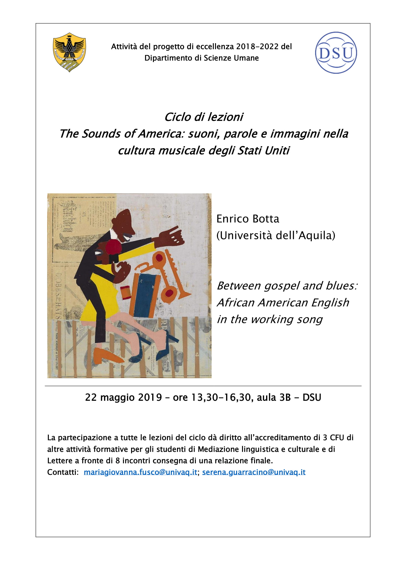 Convegno The sounds of America: between gospel and blues