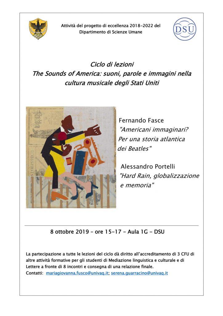 Convegno The Sounds of America: Americani immaginari? Per una storia atlantica dei Beatles